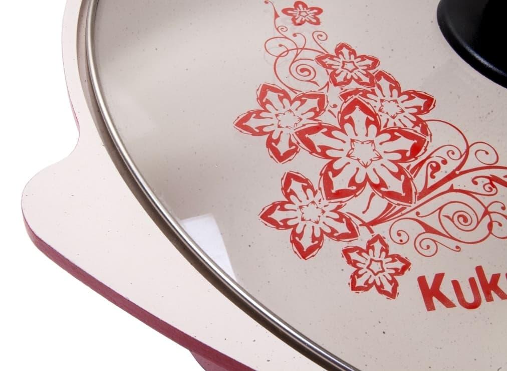 Казан с керамическим покрытием 4,5 л. стеклянная крышка Kukmara - фото 4973