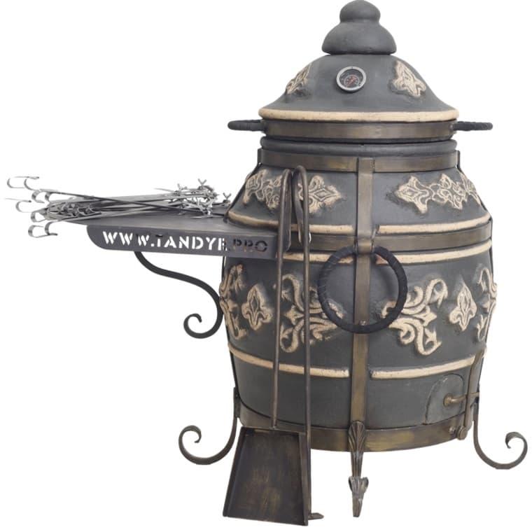 Тандыр Фирменный со столиком, графит, Эко - фото 6769