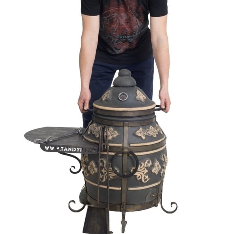 Тандыр Фирменный со столиком, графит, Эко - фото 6771