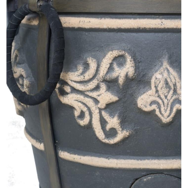 Тандыр Фирменный со столиком, графит, Эко - фото 6774