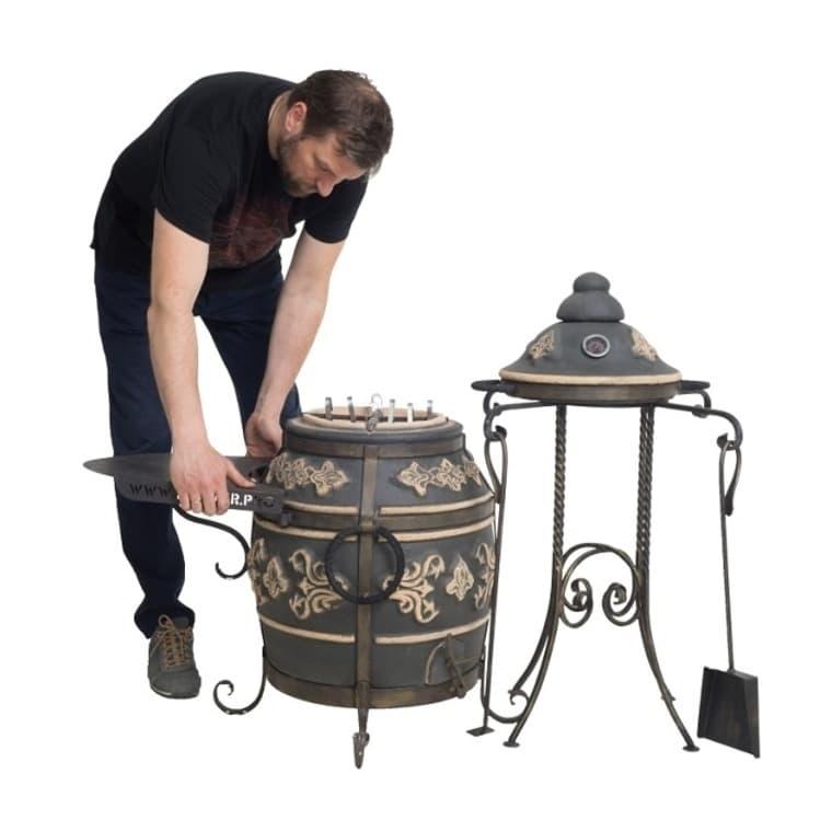 Тандыр Фирменный со столиком, графит, Эко - фото 6778