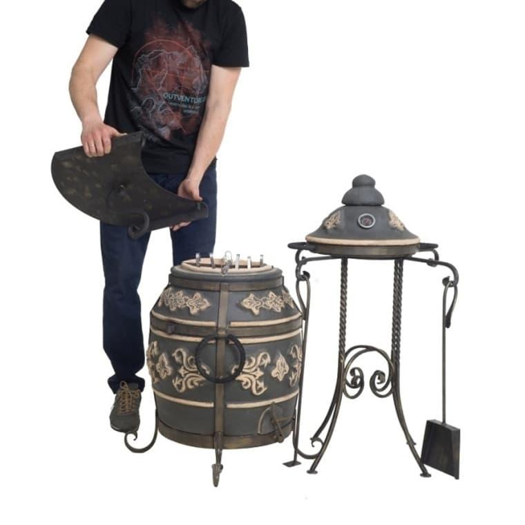 Тандыр Фирменный со столиком, графит, Эко - фото 6779
