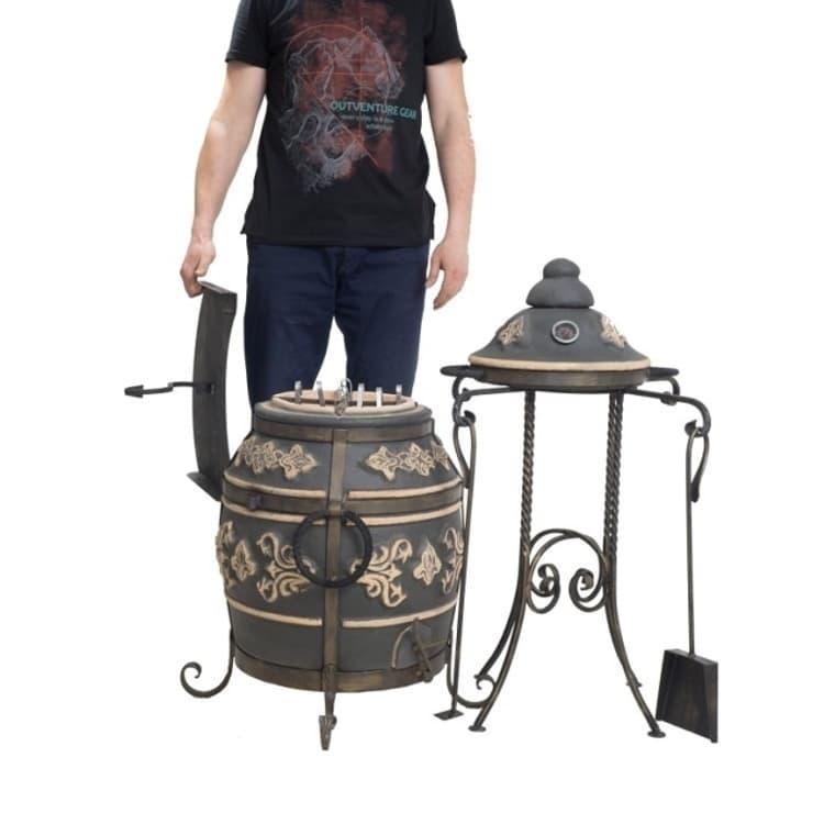 Тандыр Фирменный со столиком, графит, Эко - фото 6780