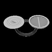 Комплект 480 (плита+решетка-гриль для печи Берель)