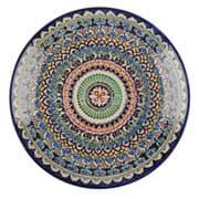Ляган Риштанская Керамика 38 см. плоский, синий