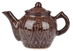 Чайник заварочный Риштанская Керамика 0.7 л. коричневый